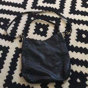 Loeffler Randall black studded tote bag& crossbody